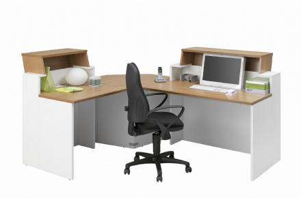Sunday Office Furniture Reception Desk Set L Shaped